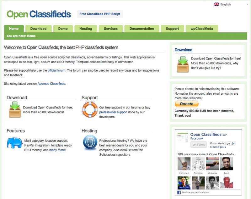 Open Classifieds, un CMS pour petites annonces
