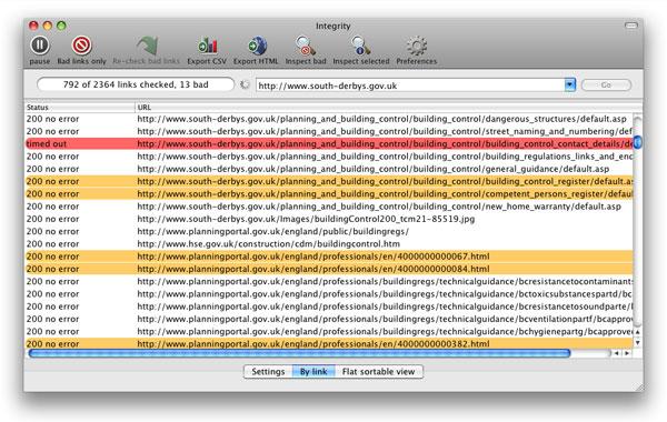 Integrity : vérificateur de liens sur Mac
