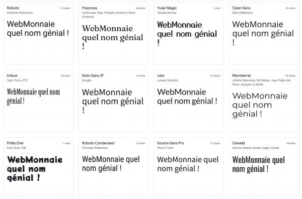 Typographie, trouver une police d'écriture pour votre site internet