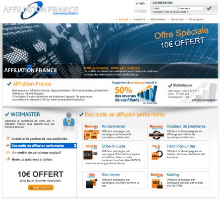Concours Affiliation-France plateforme d'affiliation