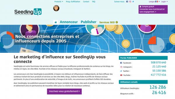 SeedingUp : booster sa réputation en ligne