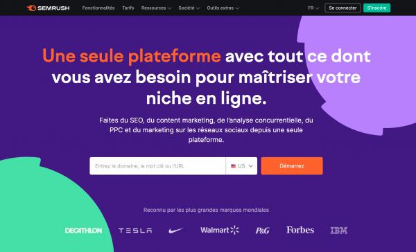Semrush : plateforme de gestion de visibilité en ligne