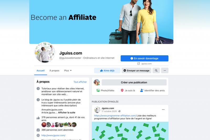 Page facebook Creation