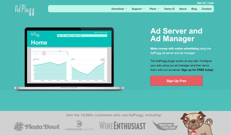 AdPlugg est un système de serveur publicitaire