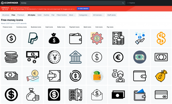 IconFinder : des icônes pour votre site web