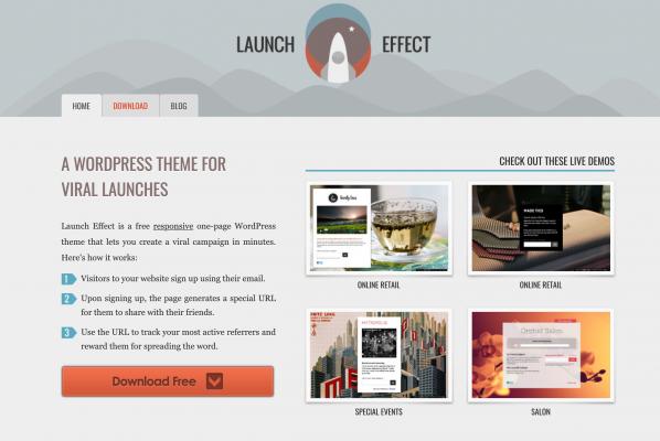 Thème WordPress pour un lancement viral