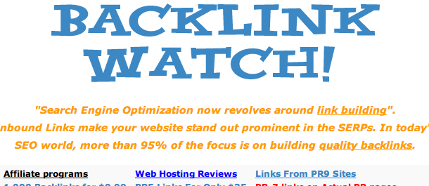 Backlinks Checker Tool - Backlink Watch