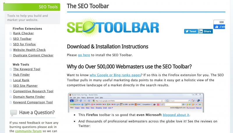 The SEO Toolbar