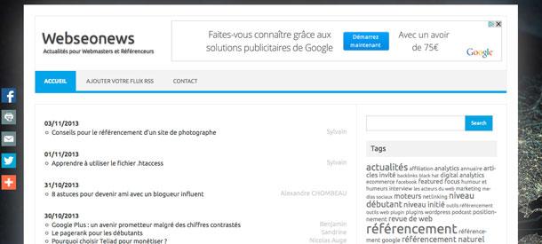 Actualités Webmaster et SEO