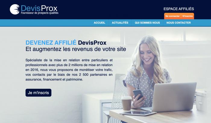 Affiliation DevisProx
