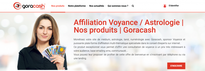 Affiliation Voyance Astrologie Nos produits Goracash