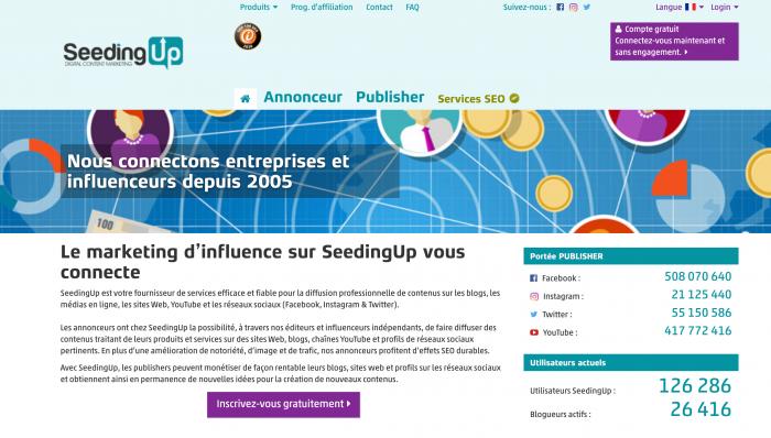 Booster son e reputation via le Content marketing SeedingUp
