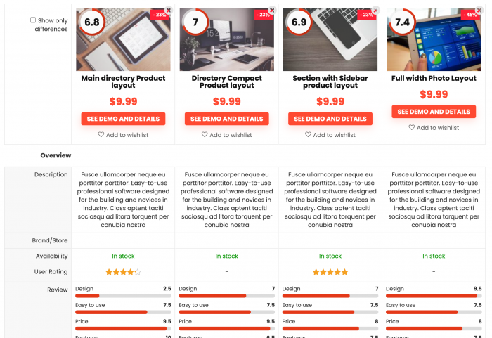 Comparison chart – Redirect – choose app for business