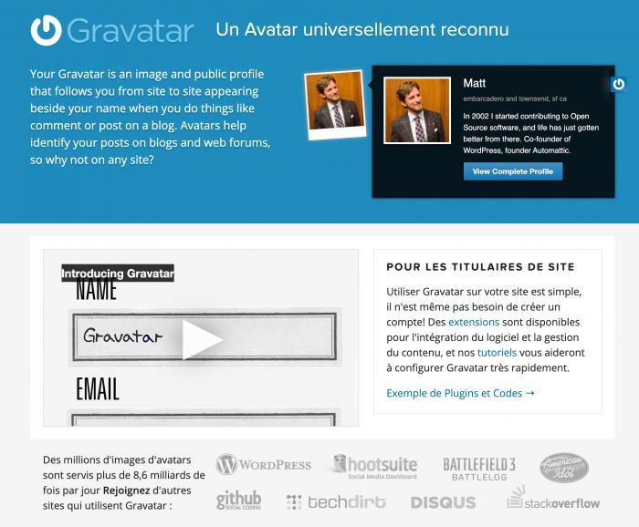 Gravatar Globally Recognized Avatars votre avatar universel