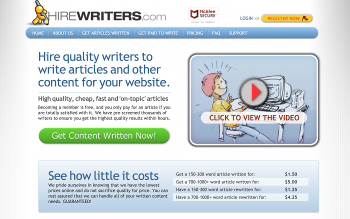 Hire A Writer Quality Freelance Writers For Hire Hire Writers