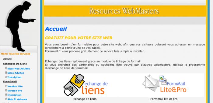 Ressources pour webmasters GRATUIT POUR VOTRE SITE WEB