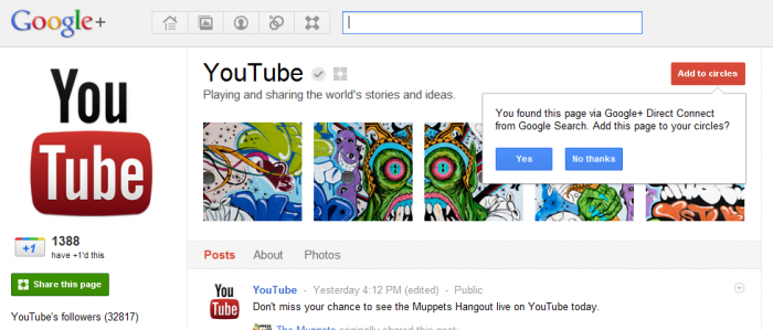 YouTube google page