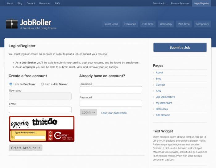 jobroller register