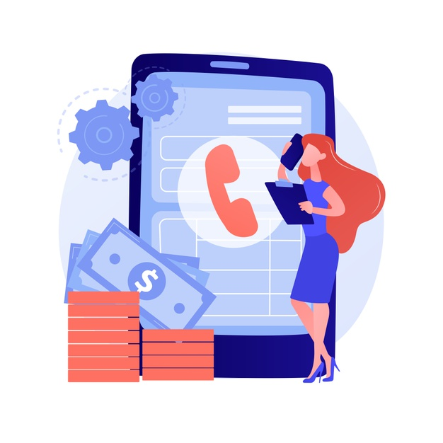 pay call communicating through smartphone telephone contact help line client support solving problems with phone consultant talking cellphone vector isolated concept metaphor illustration 335657 2182